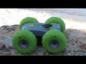 Машинка перевертыш игрушка на радиоуправлении - YouTube