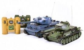 Радиоуправляемый танковый бой T34 vs Tiger, 1:24 (синий, зеленый
